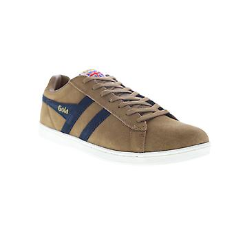 Gola Equipe Suede  Mens Brown Lace Up Lifestyle Sneakers Shoes