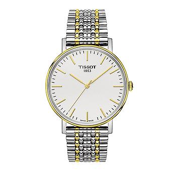 Tissot Watches T109.410.22.031.00 Everytime Medium Gold & Silver Stainless Steel Men's Watch