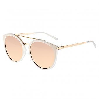 Sixty One Moreno Polarized Sunglasses - White/Rose Gold