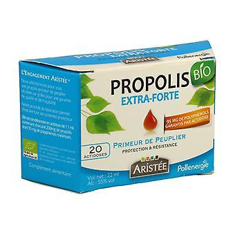 Organic poplar extra-strong propolis 20 units of 1.1ml