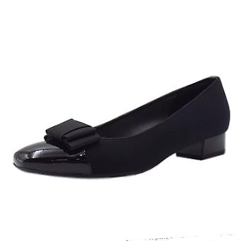 Peter Kaiser Nancie Wide Fit Low Heel Court Shoes In Black