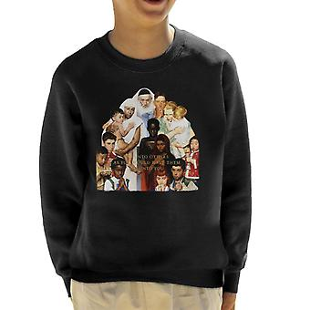 The Saturday Evening Post Norman Rockwell Do Unto Others Kid's Sweatshirt