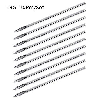 Disposable Tattoo Piercing Needles For Navel Nipple Ear Nose Lip Tattoo Piercing Needles Kit Tool