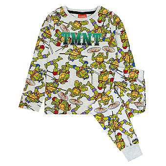 Pyjama Teenage Mutant Ninja Turtles Boys | Ensemble de vêtements de nuit TMNT pour enfants | T-shirt gris et PJs pantalon menotté