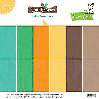 Lawn Fawn Knock on Wood 12x12 Inch Paper Pad
