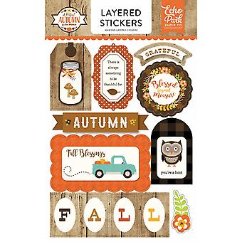 Echo Park A Perfect Autumn Layered Stickers
