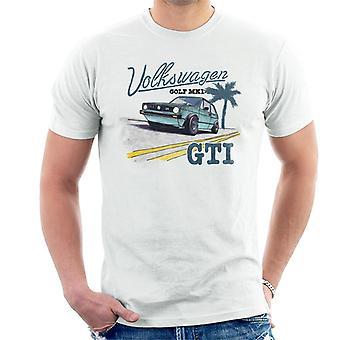 Volkswagen Golf MK1 GT1 Zwart Tekst Men's T-shirt
