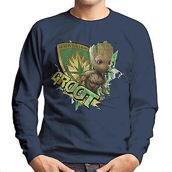 Marvel Guardians Of The Galaxy Vol 2 Shield Groot Men's Sweatshirt