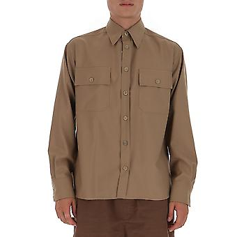 Marni Cumu0173a0s4545500m02 Heren's Brown Cotton Shirt