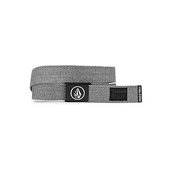 Volcom Woven  Web Belt With Bottle Opener ~ Circle heather grey