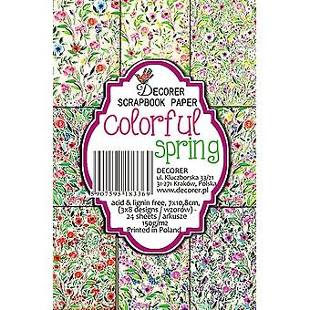 Decorer Colorful Spring Paper Pack (7x10.8cm) (M41)
