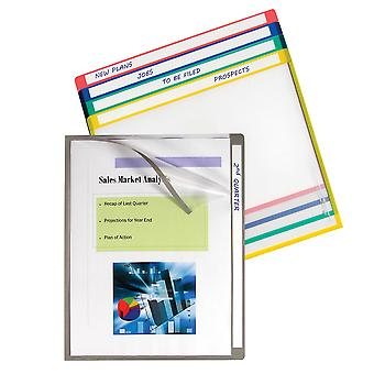62160, Write-on project folders, clear, 11 X 8 1/2, 25/BX, 62160