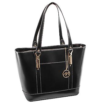 97715, Leather Ladies' Tote With Tablet Pocket
