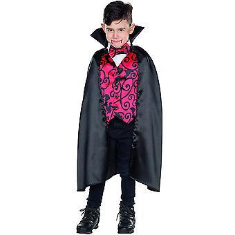 Vampir Kinder Umhang Kostüm Graf Drakula Stehkragen