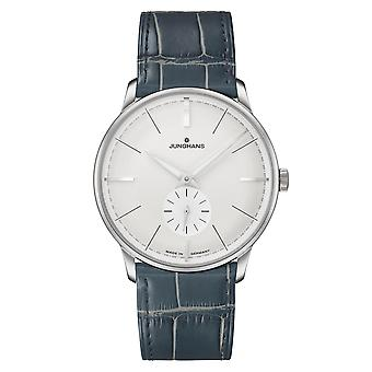 Junghans Meister Classic Terrassenbau 027/3000.02 Silver Dial Green Leather Strap Men's Watch