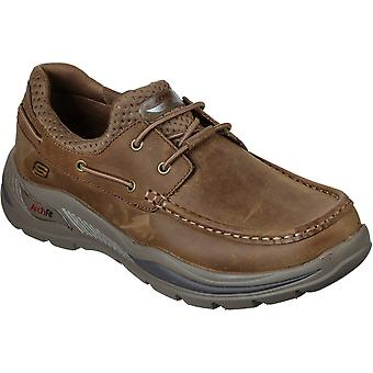 Skechers Mens Arch Fit Motley Hosco Leather Boat Shoes