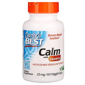 Doctor's Best, Calm with Zembrin, 25 mg, 60 Veggie Caps