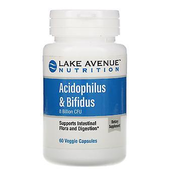 Lake Avenue Nutrition, Acidophilus & Bifidus, Probiotic Blend, 8 Billion CFU, 60