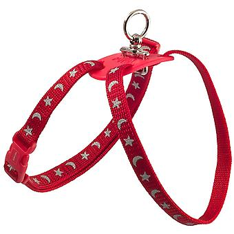 Ancol Nylon Harness Figur 8 Mond & Sterne - Rot