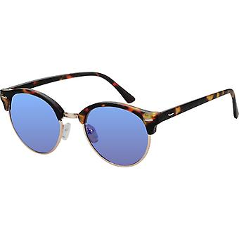 Sunglasses Unisex Brown Turtle with Mirror Lens (AZ-17-108)