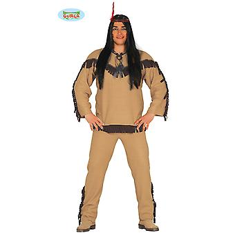 Costume d'amérindienne indienne Squaw Apache pour Wild West Carnaval Marta hommes jalonner