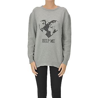 Alberta Ferretti Ezgl095053 Women's Grey Cashmere Sweater