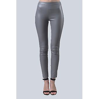 Grey leather leggings Sam-rone Women