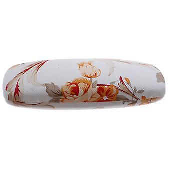 Brillenetui Damen   16 x 5 cm  weiß / orange