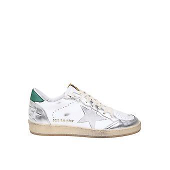 Golden Goose Gmf00117f00062980185 Hombres's zapatillas de cuero blanco