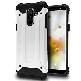 Hybrid Mobile Shell for Samsung Galaxy A6+ (2018) | White | TPU and Plastic