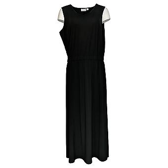 Joan Rivers Petite Robe Sans manches V-Neck Jersey Maxi Noir A304706