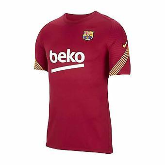 2020-2021 برشلونة نايكي تدريب قميص (أحمر نبيل)