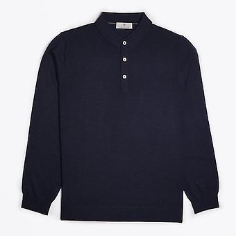 Thomas Maine - Mérinos Polo Shirt - Marine