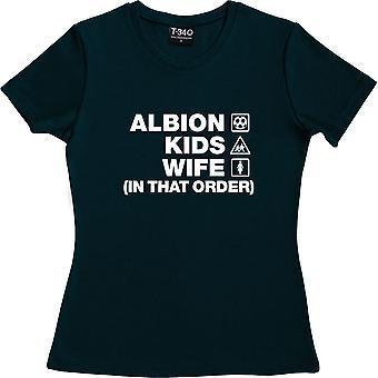 Albion Kinder Frau (In dieser Reihenfolge) Marine blau Frauen's T-Shirt