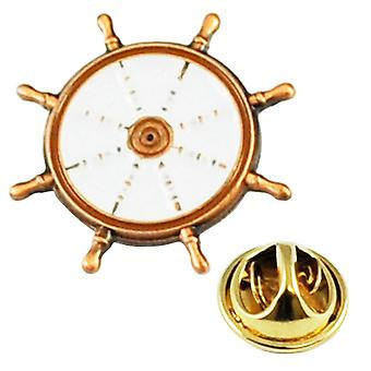 Krawatten Planet Rose Gold nautische Schiffe Rad Segeln Yachtsman's Metall Emaille Anstecknadel Abzeichen
