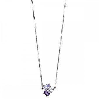 Fiorelli Silver Irregular Choker Amethyst Necklace N4263