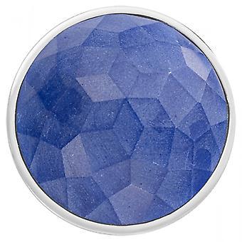 Nikki Lissoni Blue Fibre Glass Large Silver Coin C1547SL