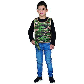 Camuflagem Colete Soldado Militar Soldado Traje Infantil