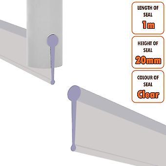 ECOSPA 3m Replacement Rubber Seal - Folding Bath Shower Enclosure Doors - Clear
