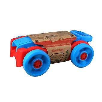 Enviro Plastic Pull Along Red/Blue Wagon with 22pc Blocks