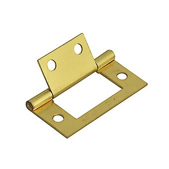 Forge Flush Hinge Brass Finish 50mm (2in) Pack of 2 FGEHNGFLBP50