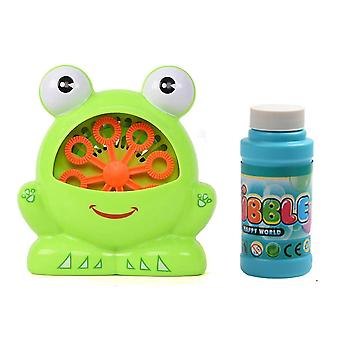 Cute Frog Automatic Bubble Machine Gun, Soap Blower Jouet d'enfant en plein air