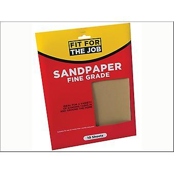 Rodo Fit for the Job Sandpaper 23 x 28cm Fine x 10 FFJASP10F
