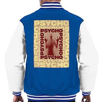 Psycho Psycho Psycho Psycho Espejo Espejo Silhouette Hombres's Chaqueta Varsity