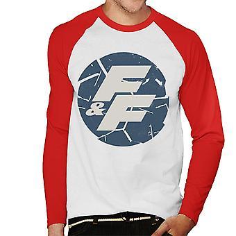 Nopea ja raivoisa särkynyt logo Men's Baseball Pitkähihainen T-paita