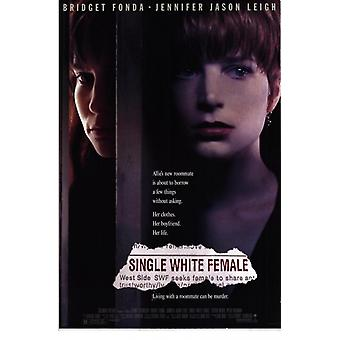 Einzelne weiße weibliche Movie Poster (11 x 17)