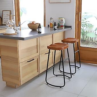 1pcs Industrial Kitchen Pub Bar Stool Wooden Dining Chair Counter Barstool