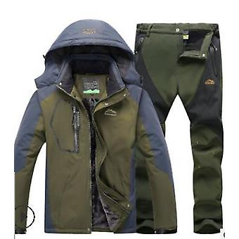 Windproof And Waterproof Snowboarding Winter Suit Set