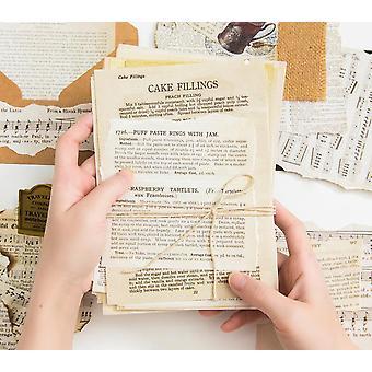 57pcs Antigas Letras Vintage / Cartão Fazendo Diy Kraft - Retro Escrevendo Papéis