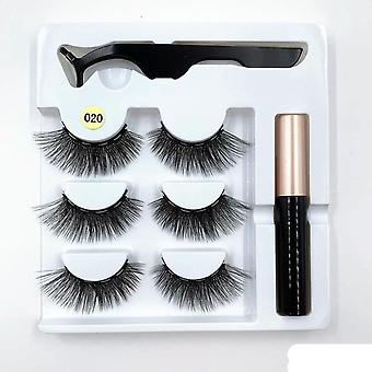 Magnetic-eyelash Sets, Eyeliner, Tweezers For Extending Eyelashes